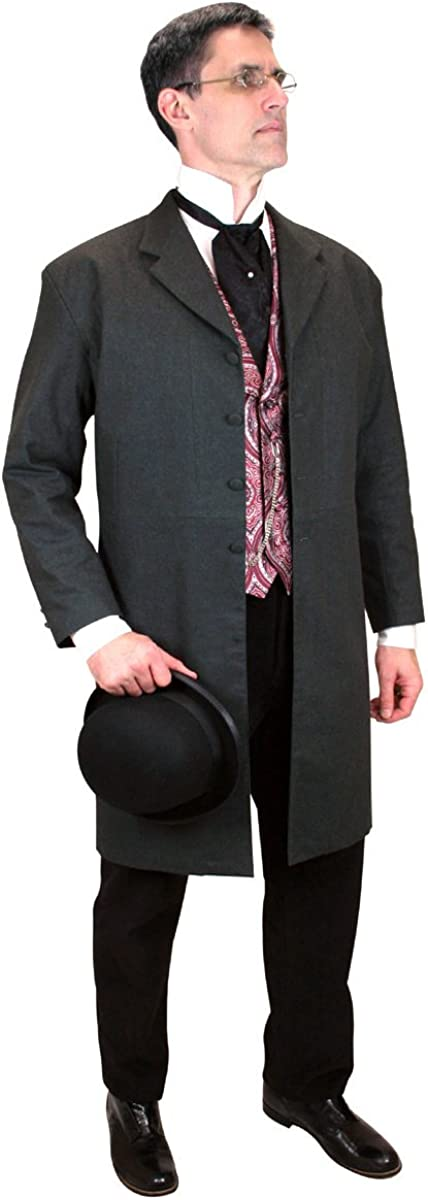 Historical Emporium Men's Callahan Cotton Blend Frock Coat