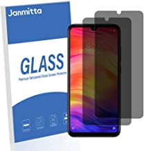Jbao Direct Compatible Xiaomi RedmiNote7Pro Privacy Screen Protector, Anti-Spy Tempered Glass Film, 2.5D [Bubble Free] [Anti-Scratch] [Smooth Touch] HD Clear Film for Xiaomi RedmiNote7Pro