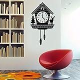 Mgdtt Rustikale Kuckucksuhr-Wand-Vinylkunst-Aufkleber Für Innenräume, Häuser, Wohnzimmer, Wohnungen Und Schlafzimmer57X32Cm
