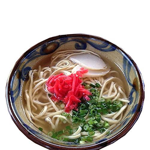 おきなわ 島そば6人前(鰹だし風味スープ)紅生姜付 沖縄のソウルフード 島人がこよなく愛する 絶品スープ