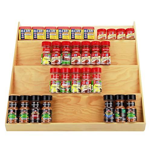 URFORESTIC In Drawer Wooden Spice Drawer Storage Organizer Insert (Large 24W×19.75D)