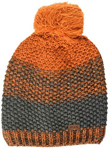 maximo Jungen mit Pompon Mütze, Orange (Rote Erde/Holzkohle 5437), (Herstellergröße: 53/55)