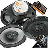 JBL GT7-96E 6x9 inches 300 Watts (75W RMS) Club Series 3-Way Coaxial Car Speakers with Gravity Magnet Phone Holder Bundle