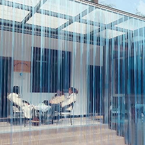 Cortinas de tiras de PVC, cortinas enrollables termoaislantes de plástico transparente de...