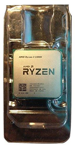 AMD Ryzen 3 2200G 3,5 GHz 4 MB L3 processor (AMD Ryzen 3, 3,5 GHz, AM4, PC, 14 nm, 2200 G).