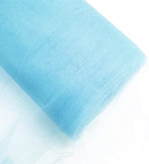 Craft and Party 54'' Tulle (Bolt 40 Yard) Fabric, Light Blue