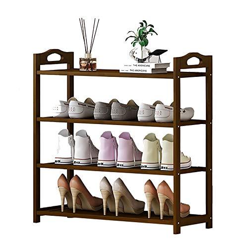 Zapatero 4 Estante Organizador Unidad Corredor Vestíbulo de Entrada, Zapato de Madera Soporte Sencillo Gabinete, Almacenamiento para 8 a 20 Pares de Zapatos