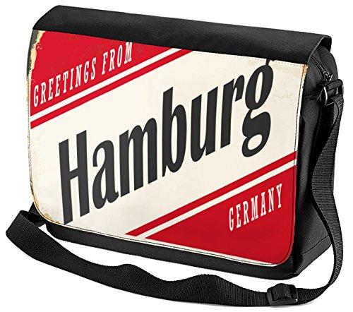 Umhänge Schulter Tasche Fernweh Stadt Hamburg Deutschland Bedruckt