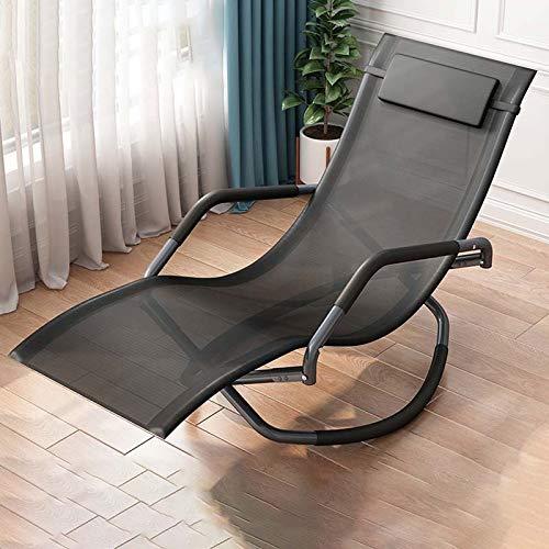 Y&MoD Relaxliege Liegestuhl,Gartenliege Sonnenliege,Gartenstuhl,Klappstuh faltbar Schaukelsessel Ergonomische Relaxsessel Wetterfest,150 kg Belastung