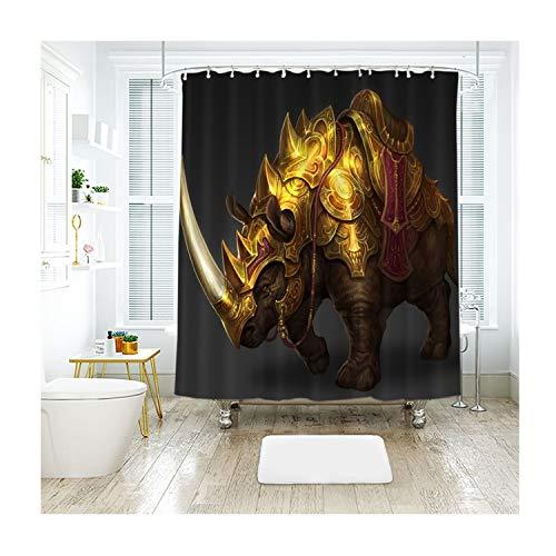 MaxAst Monster Duschvorhang Anti Schimmel, Bunten Badewanne Vorhang 180x200CM, Antibakteriell Wasserdicht mit Kunststoff Ringe Kein Rost