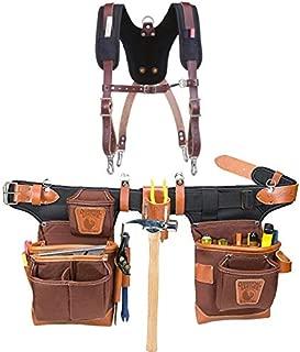 Occidental Leather 9855 Adjust-to-Fit Fat Lip Tool Belt Set Café Bundle w/ 5055 Stronghold Suspension System (2 Pieces)