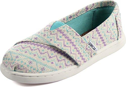 TOMS Toms Tiny Sneaker mit Klettverschluss, - Pastel Geo Glimmer - Größe: 28.5 EU