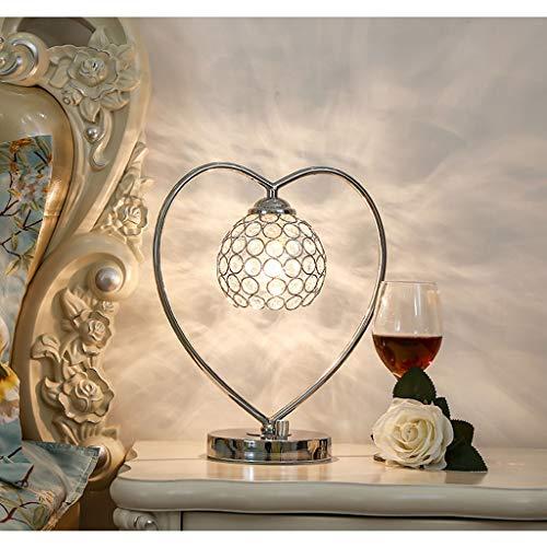 L¨¢mpara de mesa de cristal europeo con l¨¢mpara de cabecera de dormitorio con l¨¢mpara de cama de hierro creativo de la sala de bodas de la casa de los ni?os l¨¢mpara de mesa del hogar(33x30cm)
