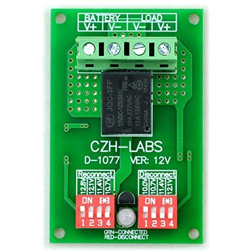Electronics-Salon Déconnexion Basse Tension module LVD, 12 V 10 A, protéger/prolonger Durée de vie de la batterie.
