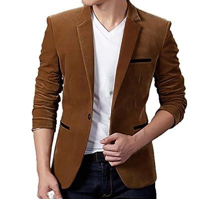 Clearance Sale! 2018 Wintialy Men's Autumn Winter Casual Corduroy Slim Long Sleeve Coat Suit Jacket Blazer Top