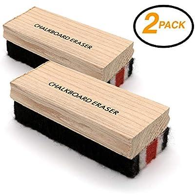 Emraw Felt Chalkboard Eraser Cleaner Kit for Dry Erase Board Blackboard Chalk Eraser Whiteboard Peel Eraser Black Board Eraser Duster Office School Shell Blackboard Cleaner Set of 2