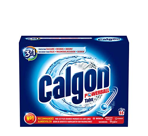 Calgon 3 In 1 Powerball Tabs - 55 Tabletten - Wasmachine Reiniger en Anti Kalk