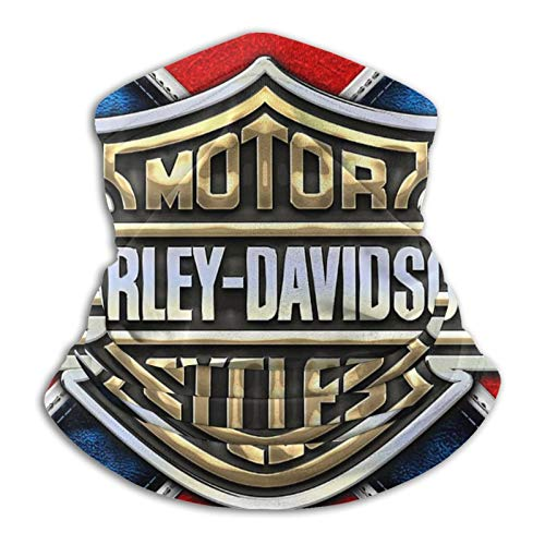 Custom made Harley Davidson Herren & Damen Mikrofaser Halswärmer Gaiter Stretchy Face Cover Halbmaske Schlauchschal Vielseitigkeit Bandana Stirnband Kopfbedeckung