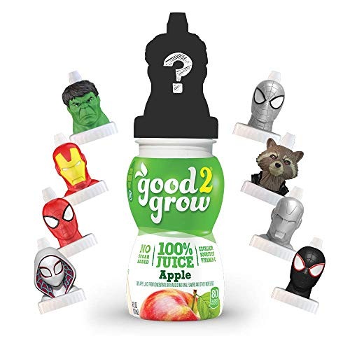 good2grow Avengers Collector Pack 100% Apple Juice, 6-pack of 6-Ounce Spill Proof Character Top Bottles, Non-GMO with no Sugar Added...