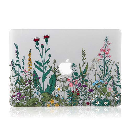 iDonzon MacBook Pro 13 inch Case (A1502/A1425, 2012-2015 Release), 3D Effect Matte Clear See Through Hard Cover Compatible Mac Pro 13.3 inch with Retina Display (NO CD-ROM Drive) - Garden Flowers