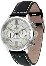 Zeno Watch Basel Herren-Armbanduhr XL Retro Tre Chronograph Automatik Leder 6302BHD-g3