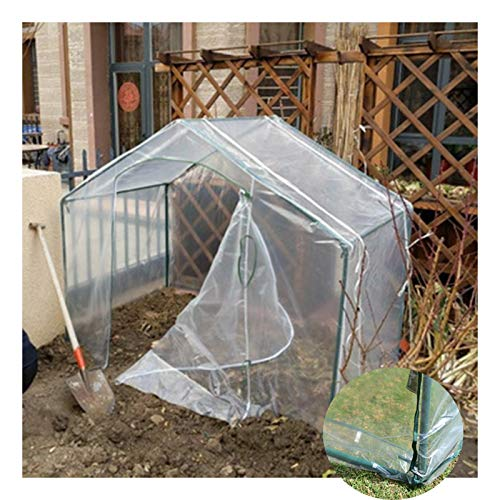 Plastic Greenhouse Green Houses For The Garden Walk-in Green House with Transparent Cover Can Be Rolled Up Zipper Door Waterproof Portable Greenhouse Tent (Color : Clear-2pcs, Size : 180x100x150cm)