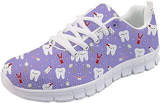 HUGS IDEA Dental Print Lightweight Running Sneakers Women Girl Walking Shoes