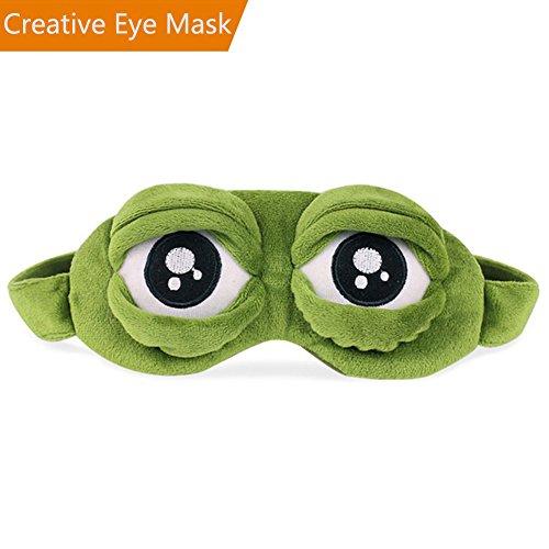 Augenmaske Schlaf, Schlafmaske Augenbinde 3D Augenklappe ,Kreative Cartoon Frosch Augenmaske Schlaf Reise Maske
