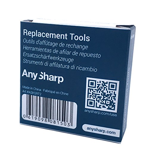 AnySharp World's Best Knife Sharpener with PowerGrip Replacement Tools