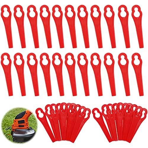 60pcs Cuchillas de Plástico Cortacésped,Cuchillas Cortador de Césped Repuesto,Cuchillas de Plástico Hierba,Cuchillas de Repuesto Rojo,Cuchillas de Repuesto de Plástico,Cortabordes de Plástico