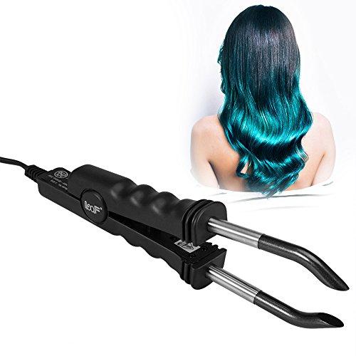 Profi Wärmezange Haar Extensions Iron für Haarverlängerung, Haarverlängerung Stecker Maschine Salon Fusion Eisen Werkzeug Perücke Stecker Werkzeuge Haarstyler(Schwarz)