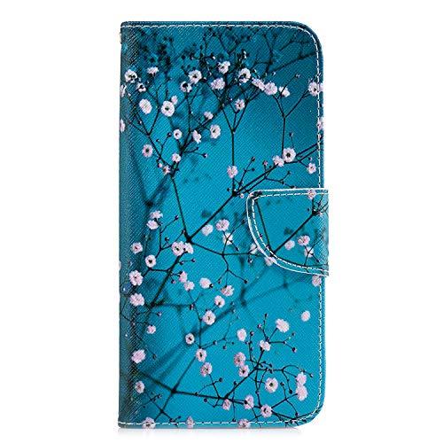 Kapok - Funda para Samsung Galaxy A12 con tapa de absorción de golpes, piel sintética, con tapa magnética para Samsung Galaxy A12, con soporte para tarjetas, ranuras para tarjetas