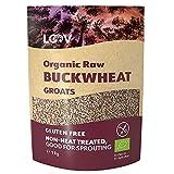 LOOV grano saraceno decorticato, 1 kg, crudo, non trattato termicamente, nutrienti preservati, delizioso sapore di nocciola, adatto a germogliatura, coltivazione biologica in clima nordico, non-OGM