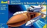 Revell- Discovery + Booster Rockets Maqueta Transbordador Espacial, Color Multicolor (Wolf Grey/Pure...