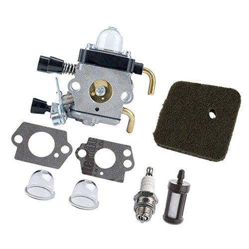 D DOLITY Carburador & Junta Accesorio para Stihl fs74, fs75, fs76, fs80, fs80r Cortacésped Cortasetos Carburador Repuesto, Larga Duración