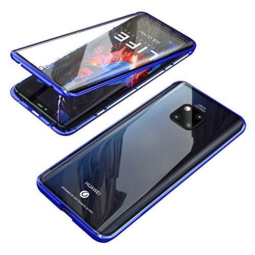 Hicaseer Capa para Huawei Mate 20 Pro, capa protetora de vidro transparente antiarranhões magnética antiderrapante para Huawei Mate 20 Pro - azul