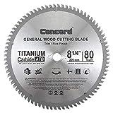 "Concord Blades WCB0825T080HP 8-1/4"" 80 Teeth TCT General Purpose Hard & Soft Wood Saw Blade"