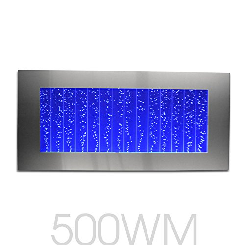 Bubble Panel Wall Mount Hanging Water Fountain 500WM Bublewall (Silver with 44 Key Wireless Remote)