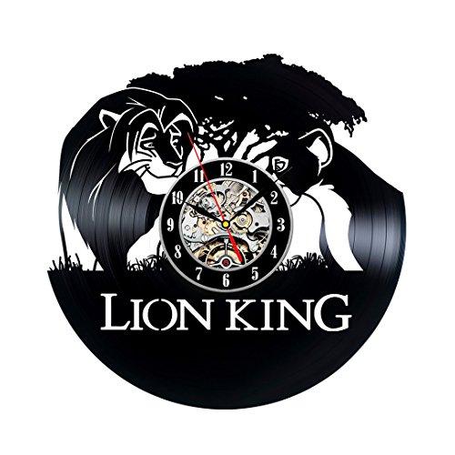 Rey León Tema reloj de pared decorativo del vinilo
