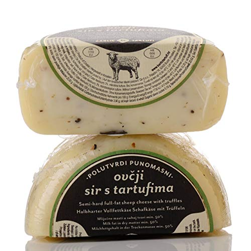 TRÜFFELKÄSE Premium Schafsmilchkäse mit Trüffel. Kroatischer Käse mit Trüffel
