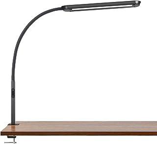 Tomons Lámpara de Escritorio LED 15W, Cuello de Cisne con Abrazadera, Lámpara de Mesa Regulable, Temperatura de Color Ajus...