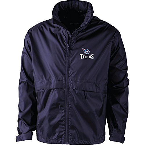 NFL Tennessee Titans Men's Sportsman Waterproof windbreaker, Medium, Team Color