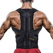 Gimiromi Haltungskorrektur für Männer und Frauen, Reduziert Nacken, Rücken, Lenden und Schulterschmerzen, Atmungsaktive und Verstellbare Rückenstütze, mit 2 Rücken und Rückenstützen