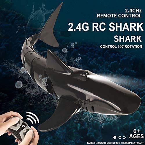 OUTTUO 2.4G RC Boot Fernbedienung Hai Spielzeug ferngesteuertes Boot Simulation, Unterwasser RC Elektro Rennboot Spielzeugboot für Wasserspielzeug Badewanne, Wassertank, Schwimmbad Kinder Spielzeug