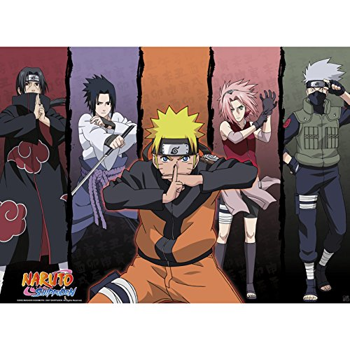 """ABYstyle - NARUTO SHIPPUDEN - Póster """"Shippuden Group # 1"""" (52x38)"""