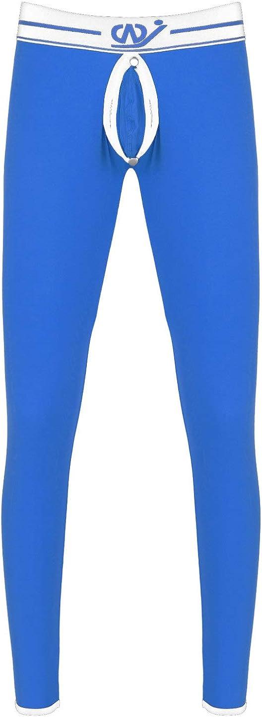 moily Men's Low Rise Thin Leggings Long Johns Thermal Pant Bulge Pouch Trunks Underwear Trousers