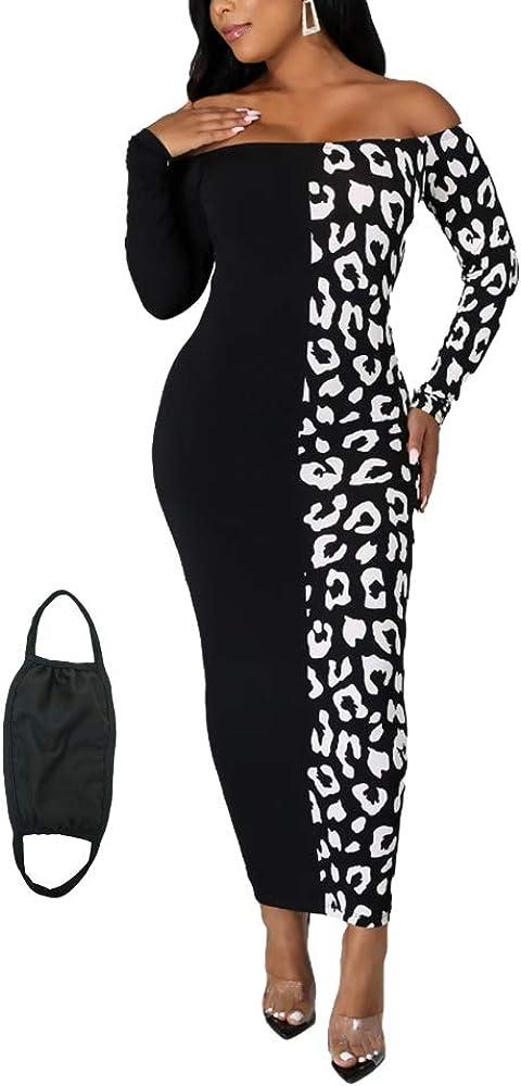 jnneyuu Women's Sexy Bodycon Tie Dye Maxi Dress Scoop Neck Casual Long Dress Club Party Slim Dresses