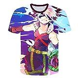 VXVN My Hero Academia 3D ImpresióN Camiseta para Hombre NiñO Camisetas Ropa Hombre Polos Camisas Manga Corta Estilo Casual Unisex Calle Anime Los Deportes Camisetas Deportivas para Hombre
