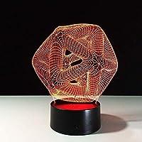 HGFHGD 子供用3Dファントムランプ子供用ベッドサイドテーブルランプLEDLEDボーイボーイ7色/ 16色タッチ