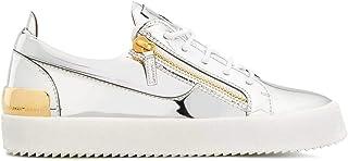 Luxury Fashion | Giuseppe Zanotti Design Men RM00019001 Silver Leather Sneakers | Spring-summer 20